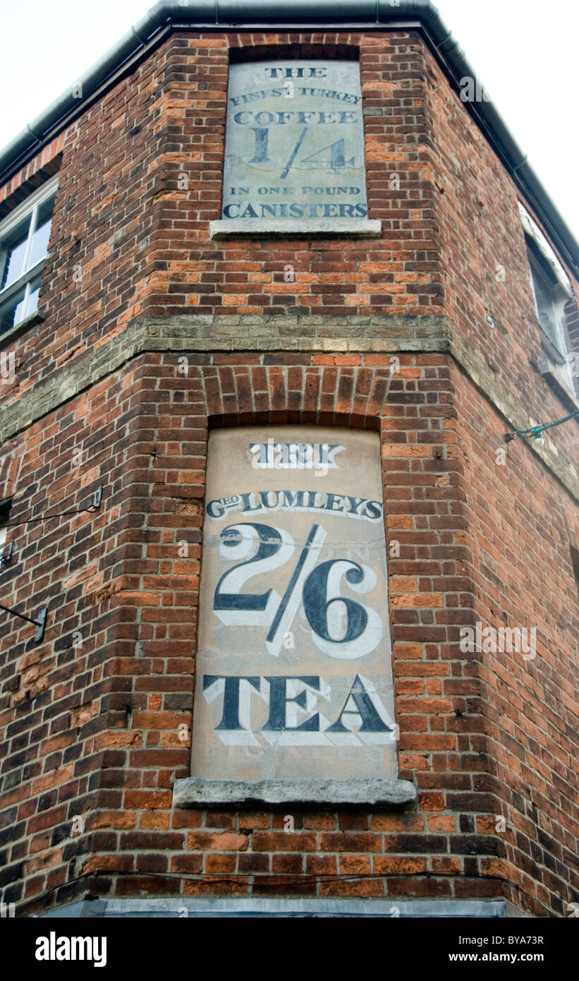 Old Advertisements, Walton Street, Oxford UK - Stock Image