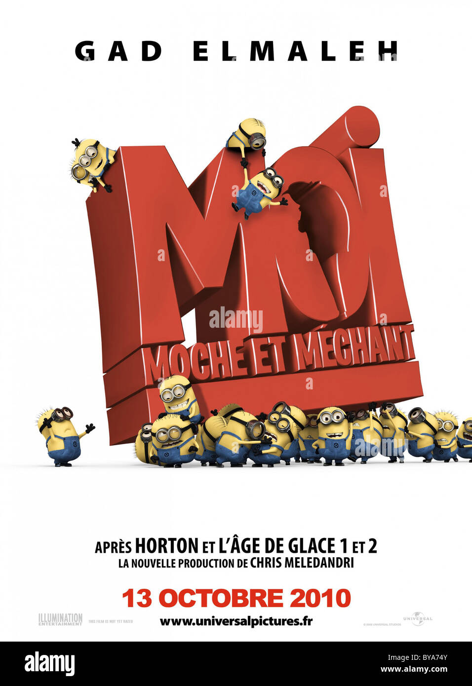 Despicable Me Year : 2010 USA Director : Pierre Coffin, Chris Renaud Animation Movie poster (Fr) - Stock Image