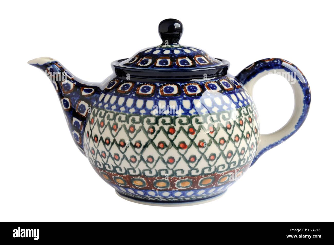 Handmade Polish pottery teapot  sc 1 st  Alamy & Handmade Polish pottery teapot Stock Photo: 34031621 - Alamy