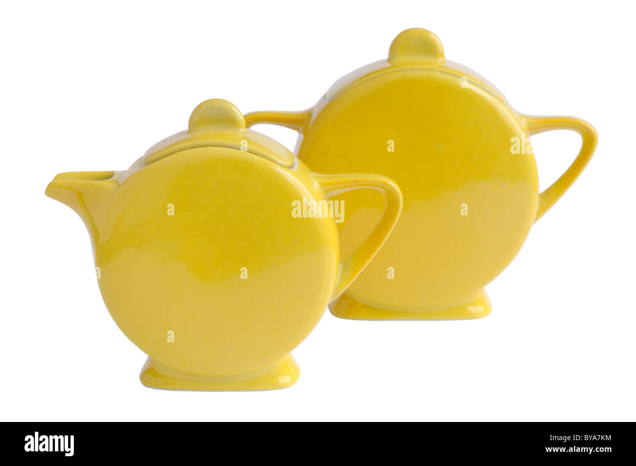 Art Deco Limoges teapot and sugar bowl - Stock Image