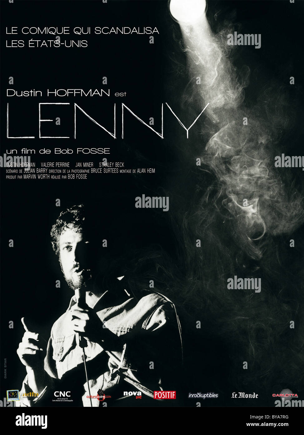 Lenny Year : 1974 USA Director : Bob Fosse Dustin Hoffman  Movie poster (Fr) - Stock Image