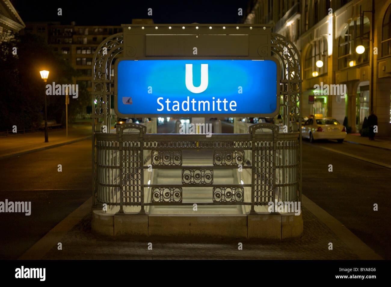U-Bahn Station Stadtmitte, subway station, Berlin, Germany, Europe - Stock Image