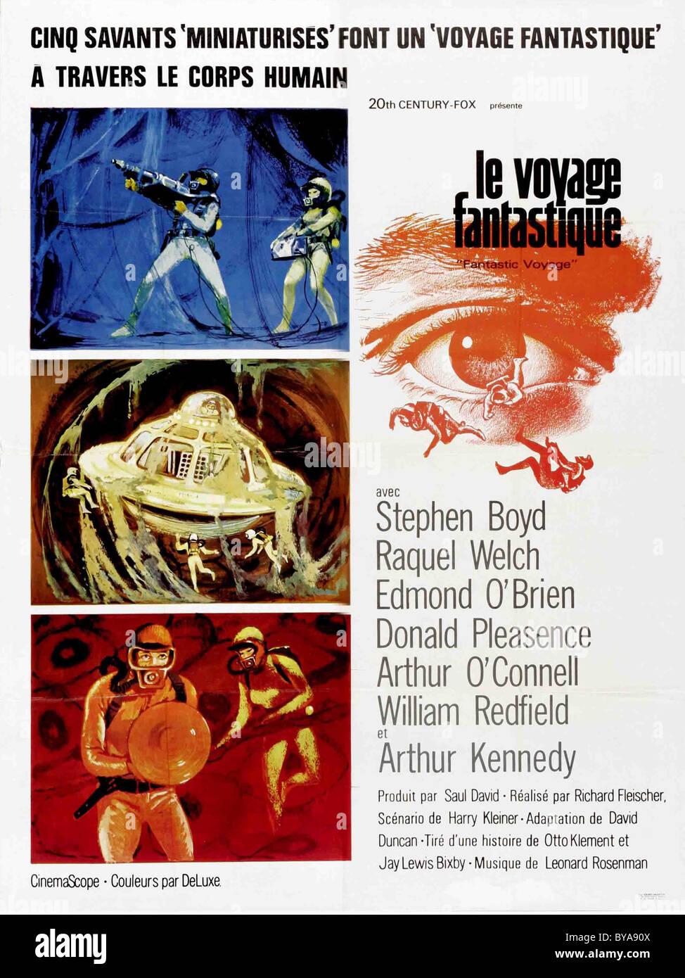 Fantastic Voyage  Year : 1966 USA Director : Richard Fleischer Movie poster (Fr) - Stock Image