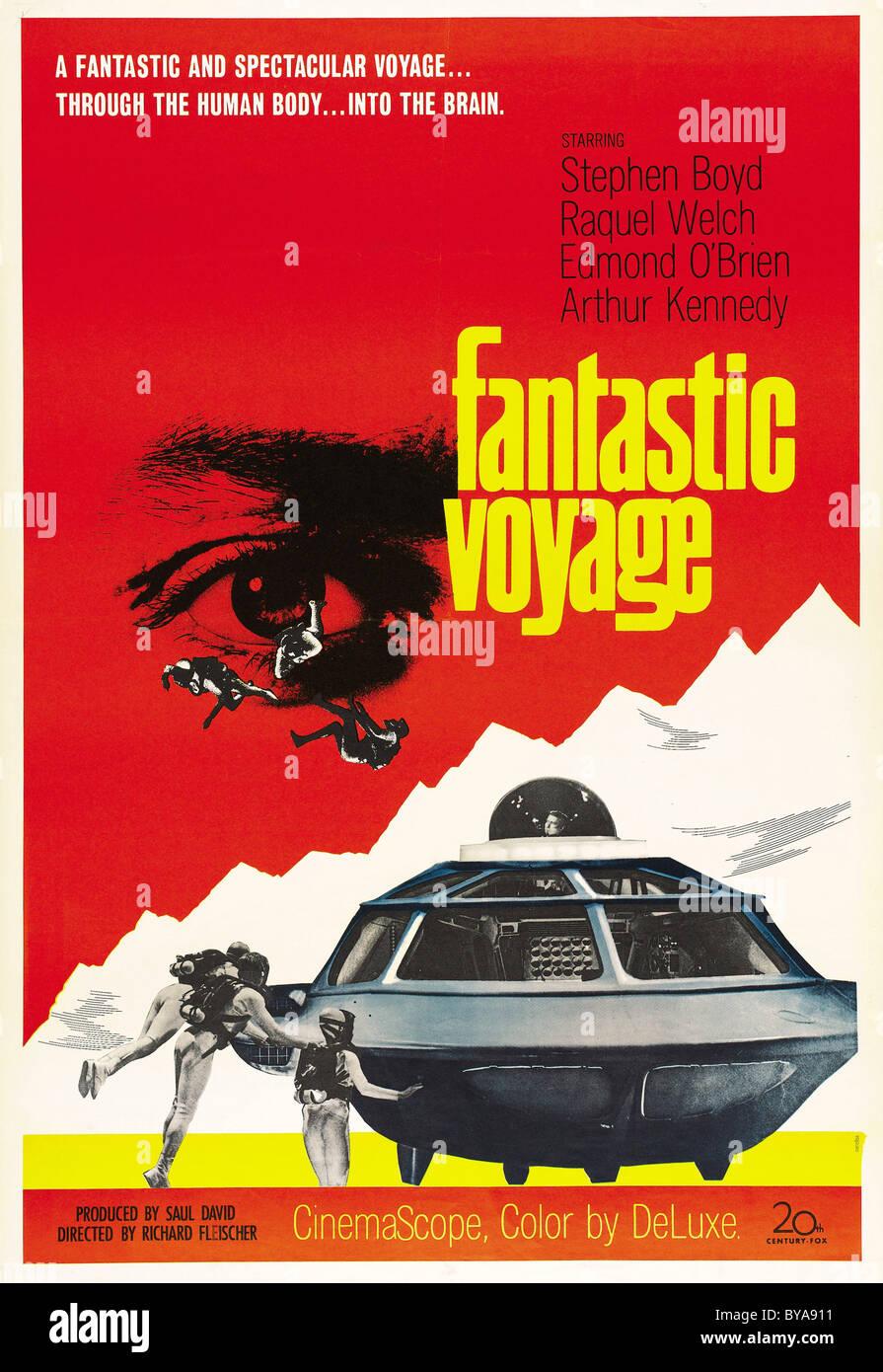 Fantastic Voyage  Year : 1966 USA Director : Richard Fleischer Movie poster (USA) - Stock Image