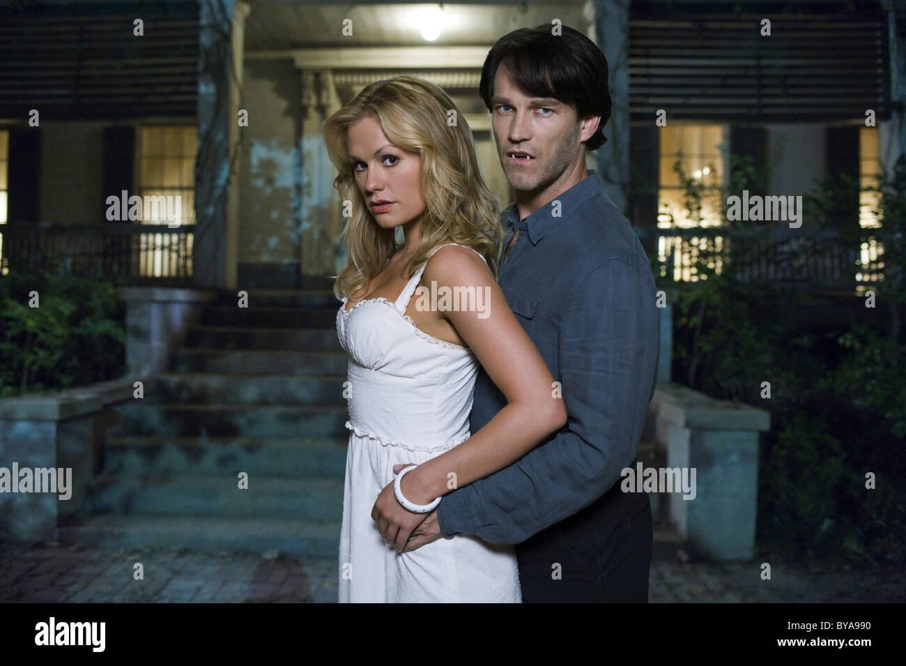 True Blood TV Series 2008 - ???? USA 2008 Season 01 - Promotion Created by Alan Ball Anna Paquin, Stephen Moyer - Stock Image