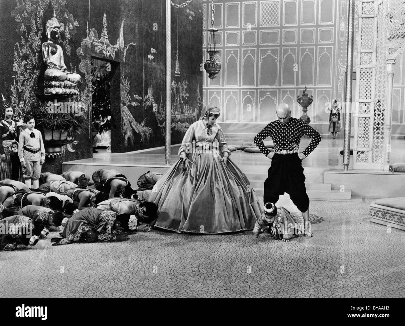 The King and I Year : 1956 USA Director : Walter Lang Deborah Kerr, Yul Brynner - Stock Image