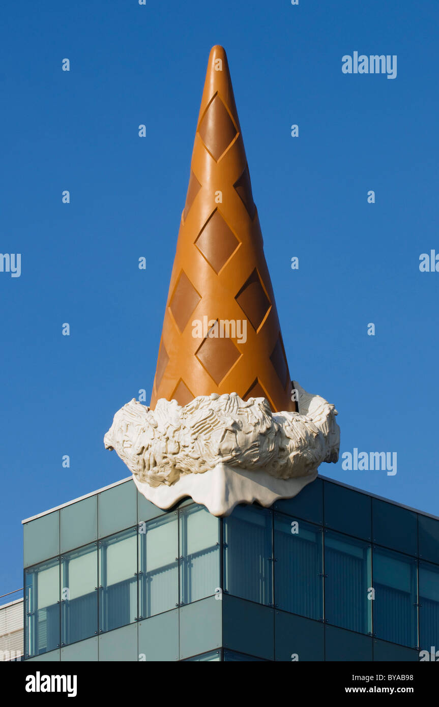 Architecture, ice cream cone, Neumarkt Galerie shopping mall, Cologne, North Rhine-Westphalia, Germany, Europe - Stock Image
