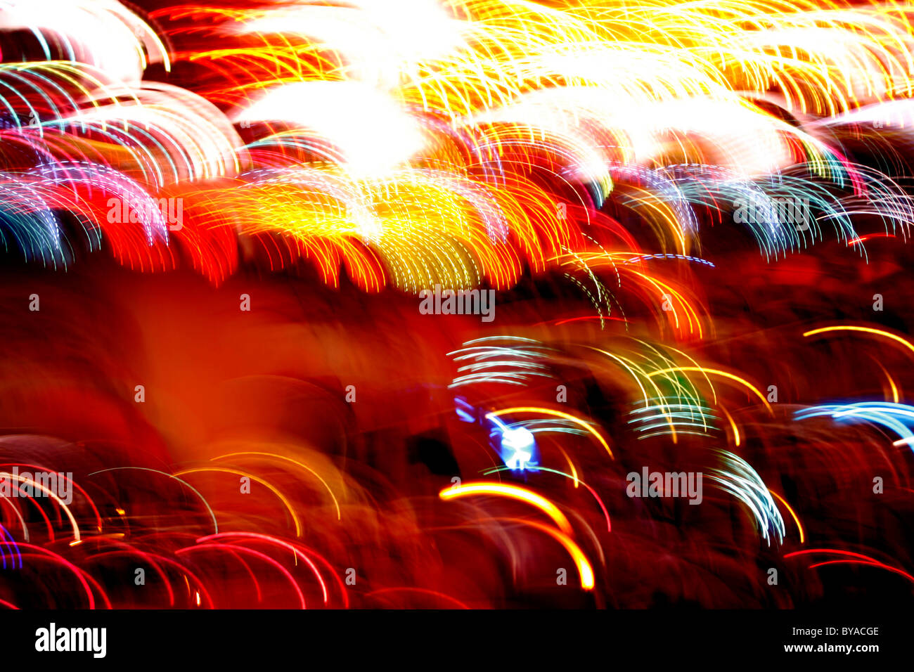 Abstract light painting - Stock Image