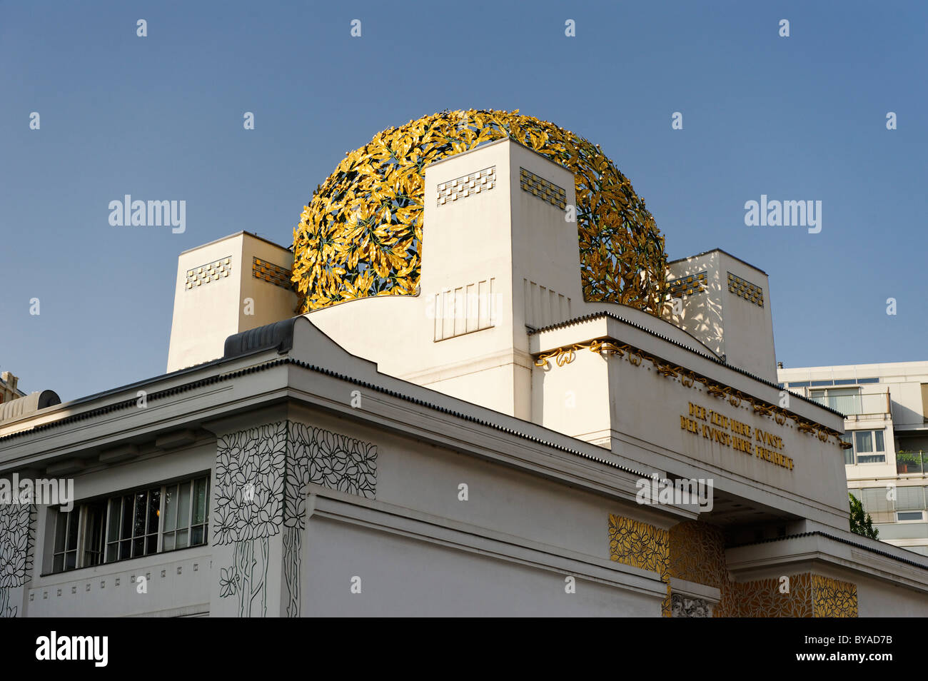 Secession, Vienna Secession exhibition building, designed by Joseph Maria Olbrich, 1st District, Vienna, Austria, - Stock Image