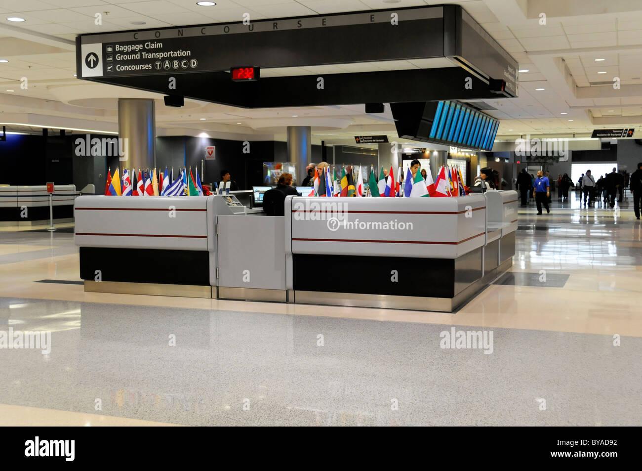 Information desk, Hartsfield-Jackson Atlanta International Airport, Atlanta Airport, Atlanta, USA, North America - Stock Image