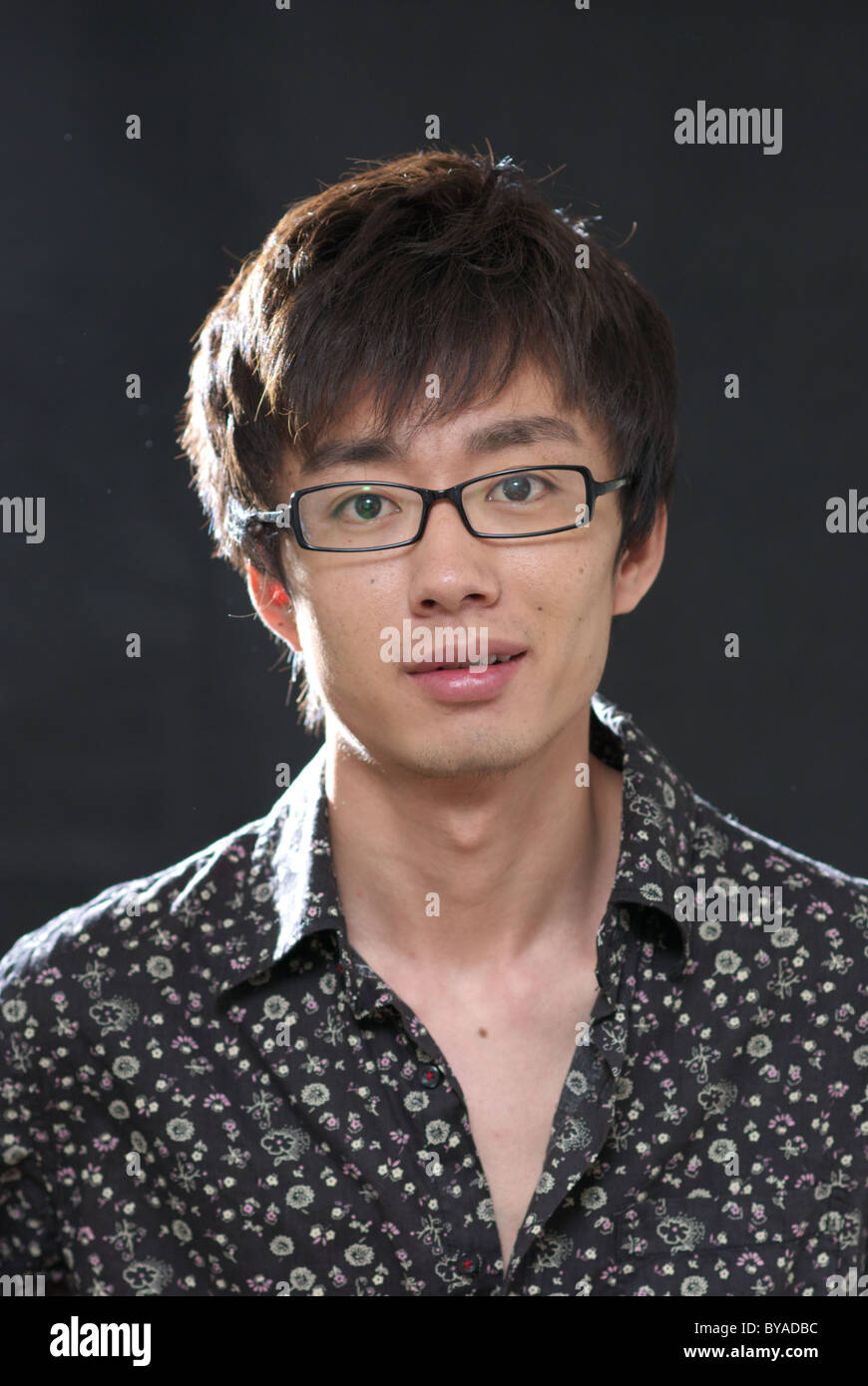 Asian young man portrait - Stock Image