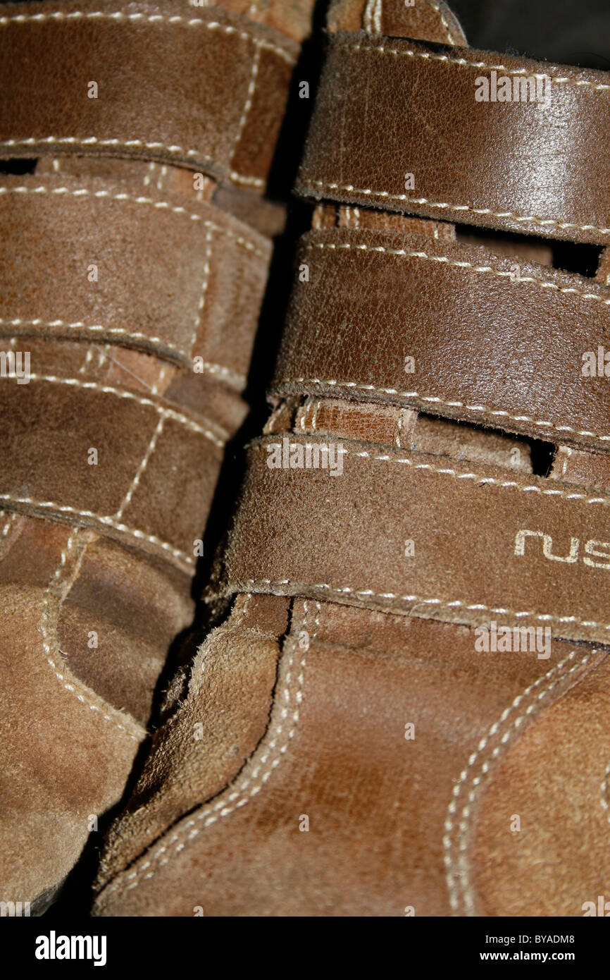 close up of shoes - Stock Image