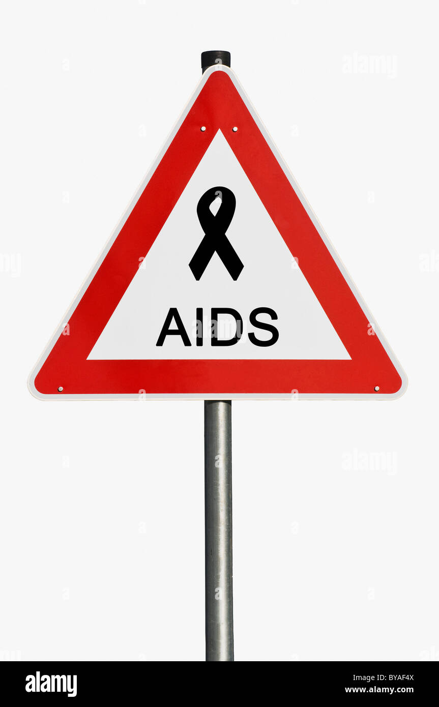 Warning sign, Aids - Stock Image