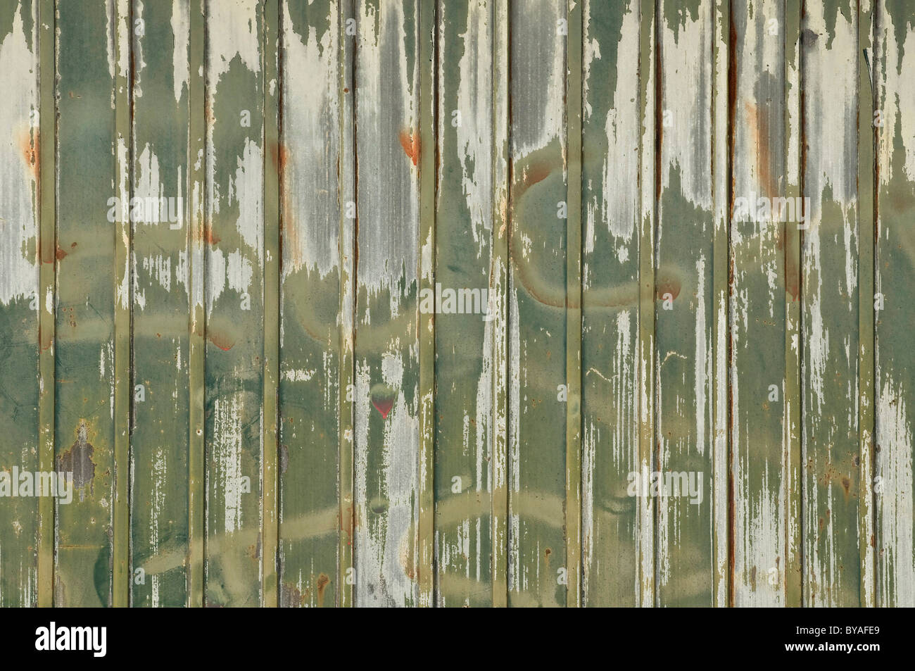 Smudgy painting covering graffiti - Stock Image