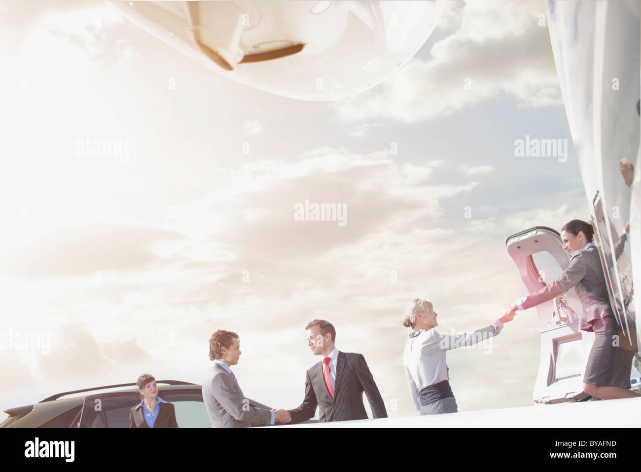 Team of business executives - Stock Image
