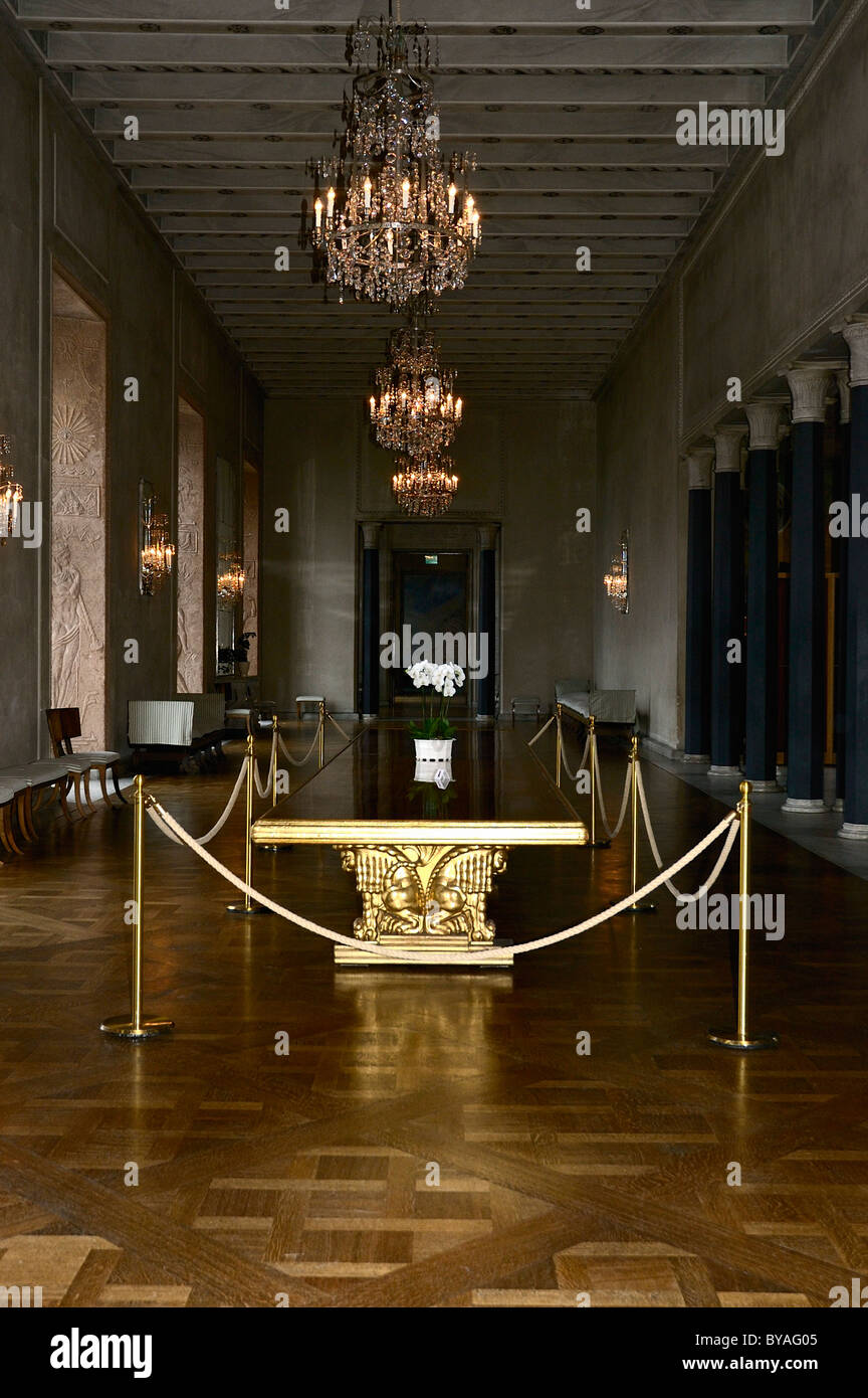 The Ornately Decorated Princeu0027s Gallery Which Runs Along The Southern Side  Of City Hall, Stockholm