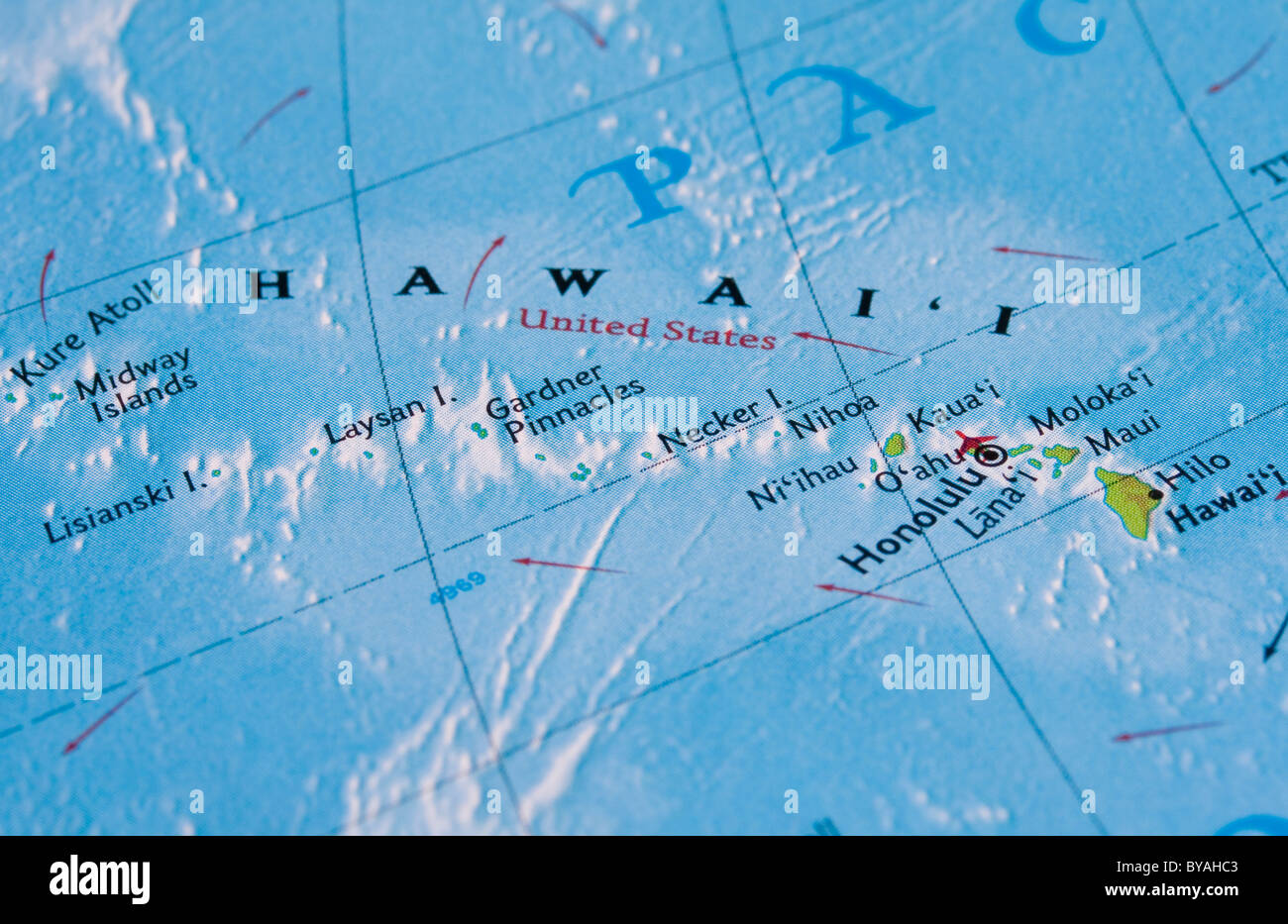 Map Of Hawaii And Map Stock Photos & Map Of Hawaii And Map Stock ...