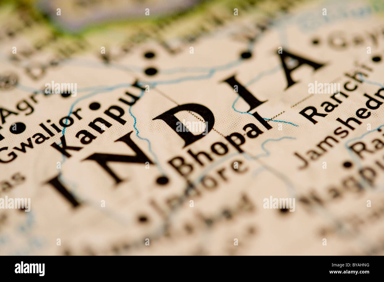 India on the amp. - Stock Image