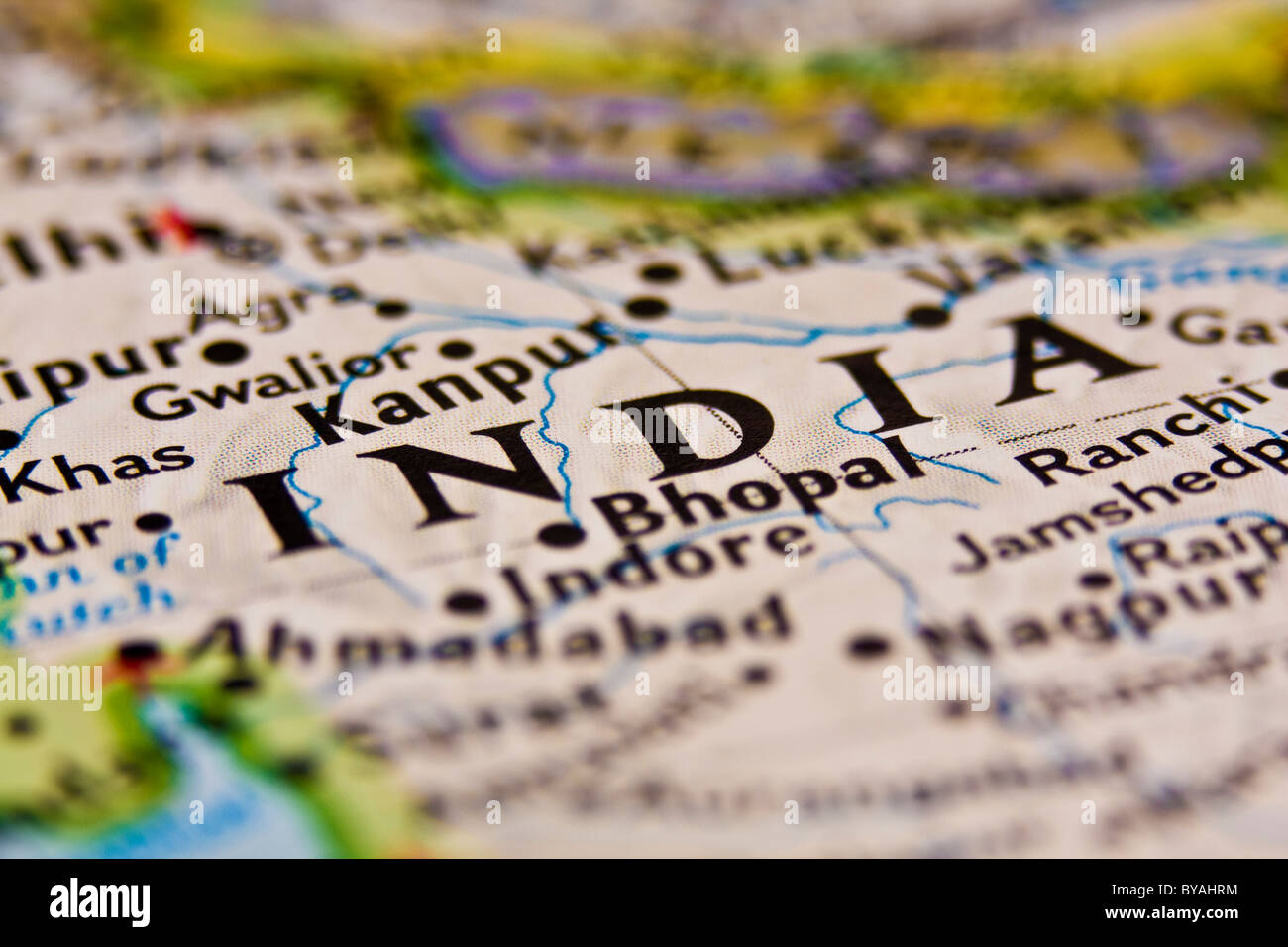 India on the Map. - Stock Image