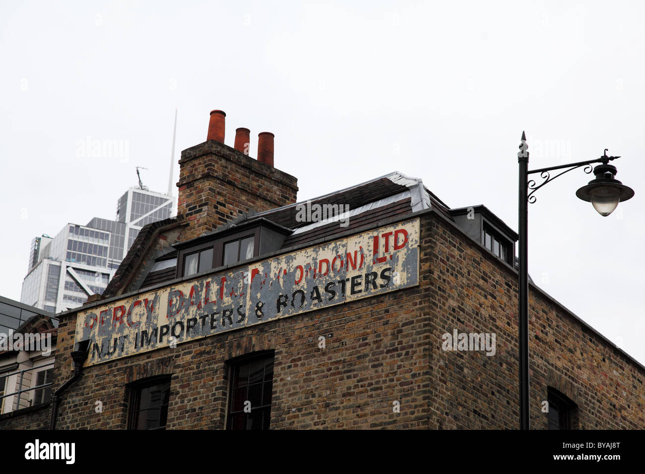 Importers and Roasters sign, Liverpool Street Station. London - Stock Image