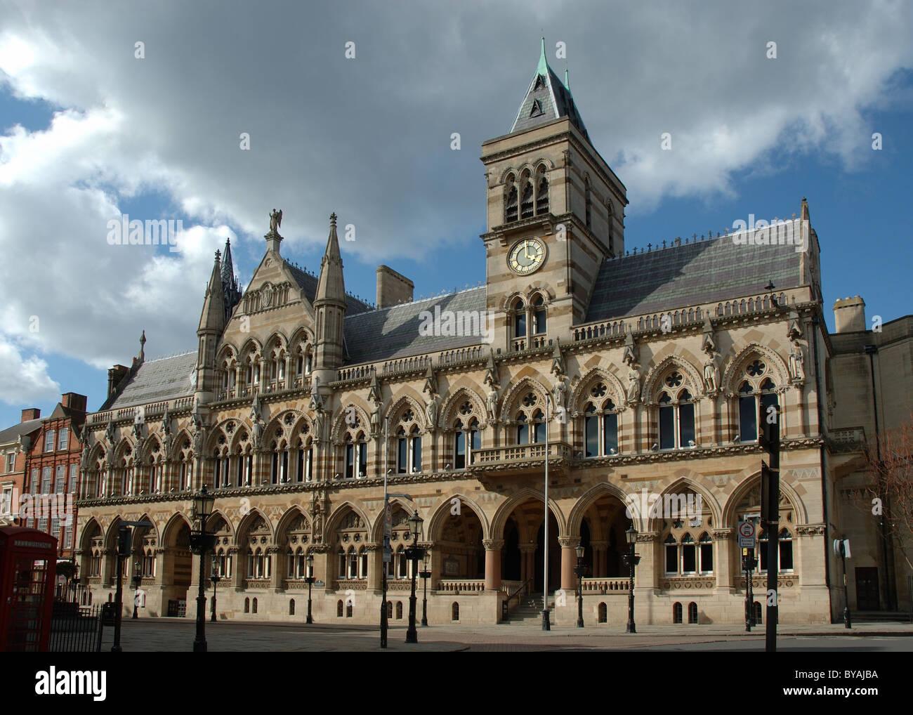 Guildhall, St Giles Square, Northampton, Northamptonshire, England, UK - Stock Image