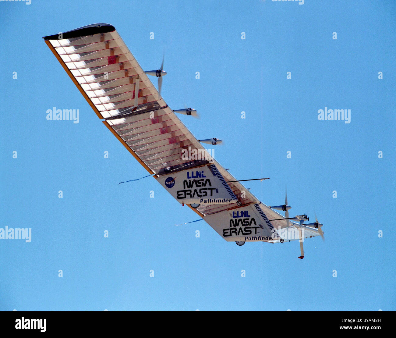 Pathfinder aircraft, solar-powered airplane - Stock Image