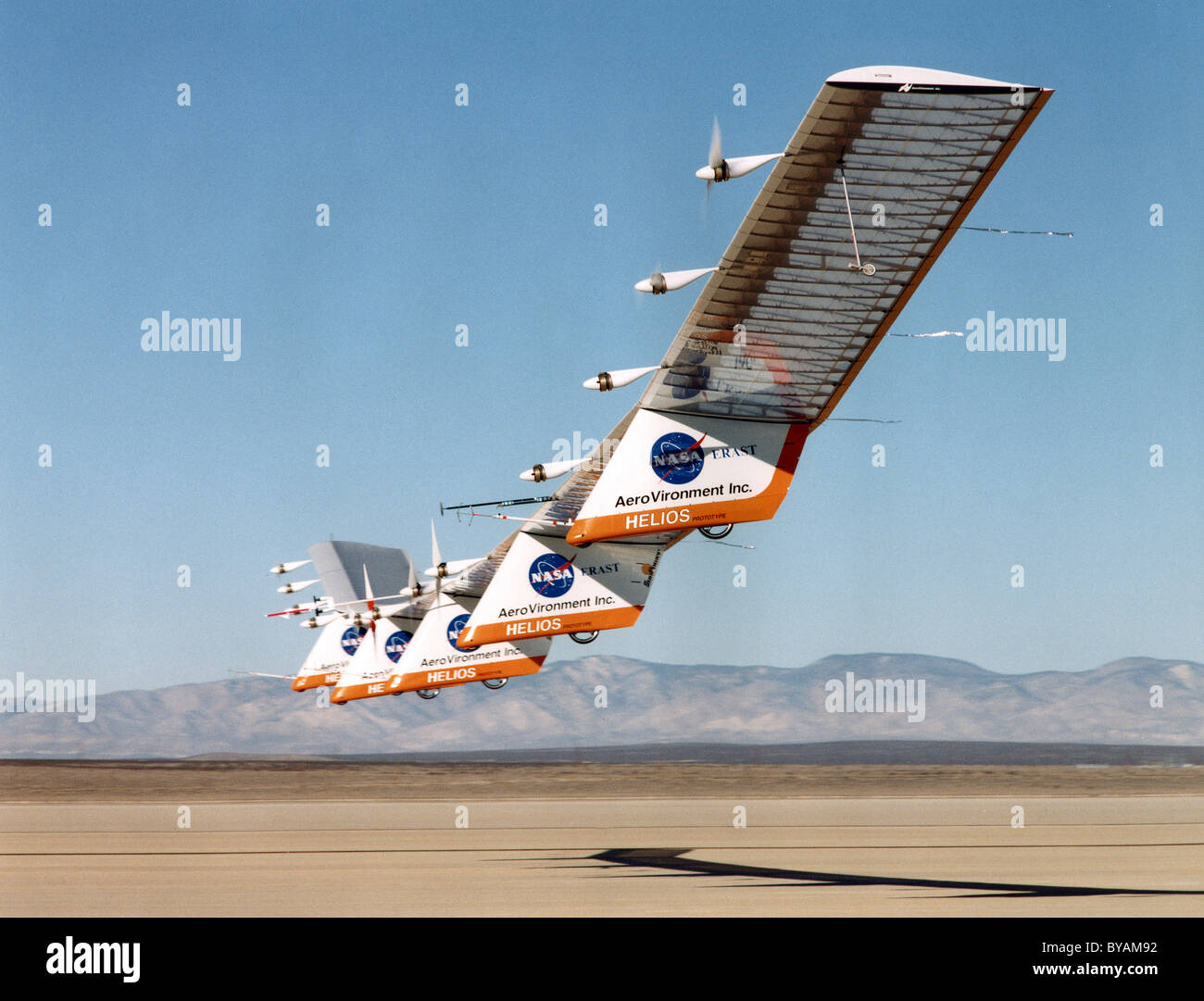 Helios Prototype, solar-powered unmanned remote controlled airplane - Stock Image
