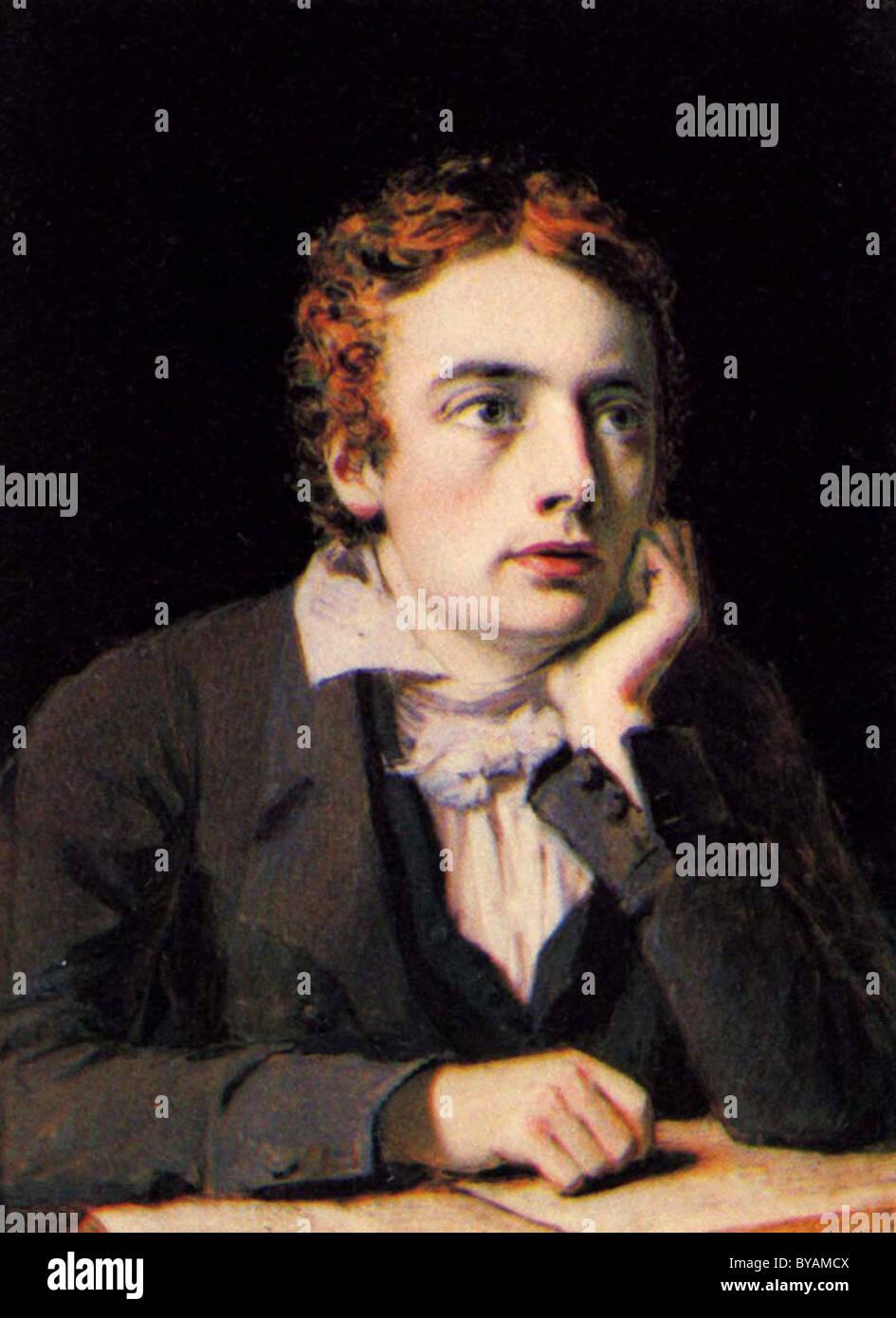 John Keats, English Romantic poet. - Stock Image