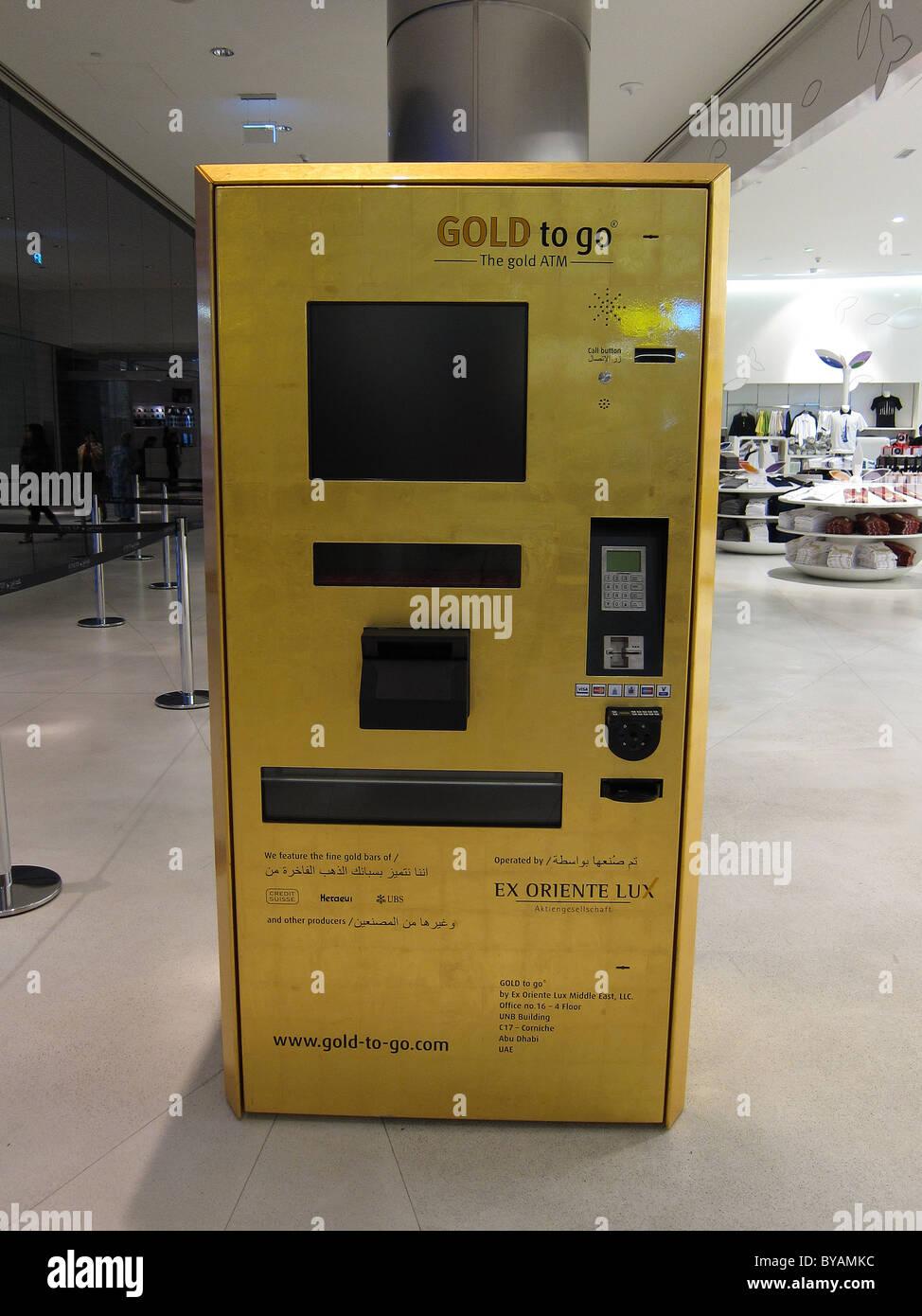 A Gold Bar Atm Machine In Dubai
