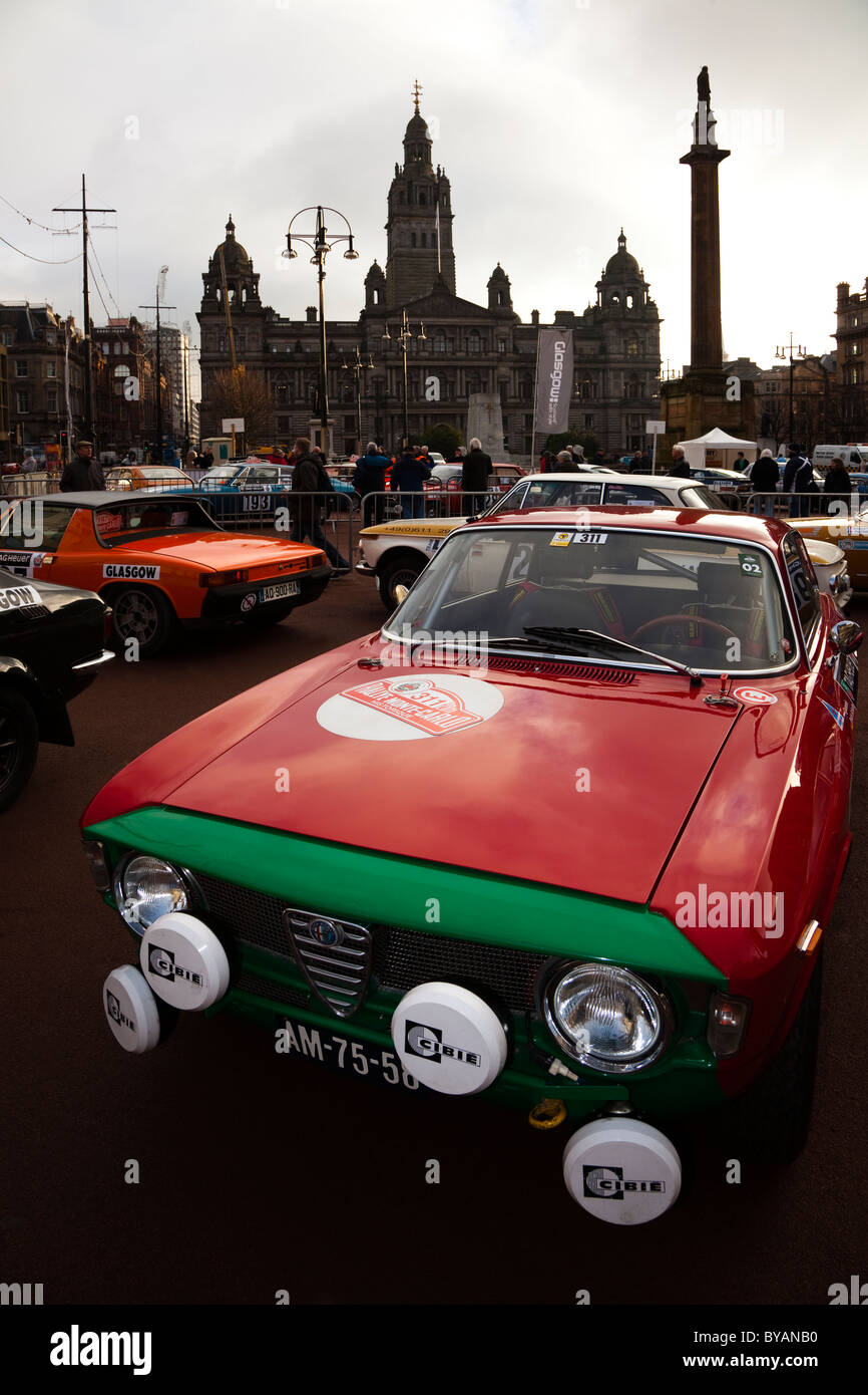 1964 Alfa Romeo Giulia Sprint GT rally car, enrolled in the 100th Monte Carlo Rally - Stock Image
