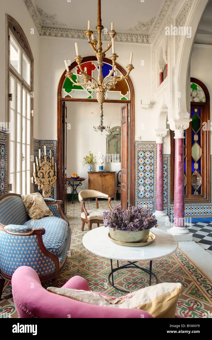 Beautiful Moroccan style townhouse - Stock Image