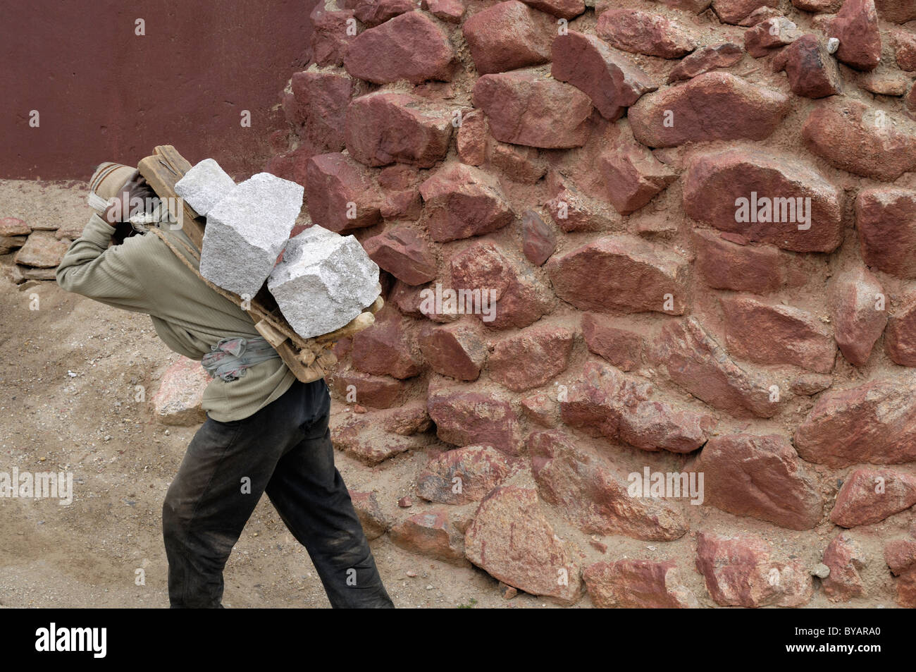 Manual labourers in India. - Stock Image