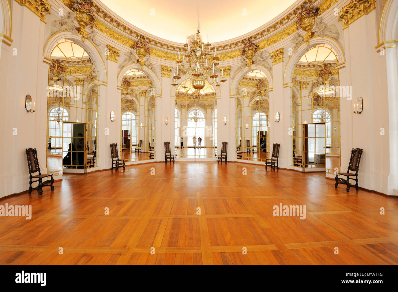 Oval Room in Schloss Charlottenburg Palace, Berlin, Germany, Europe - Stock Image