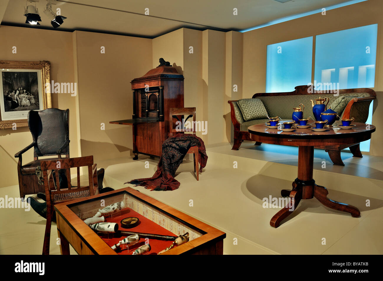 Rooms at the Typisch Muenchen exhibition, Munich City Museum, Stadtmuseum, Munich, Bavaria, Germany, Europe - Stock Image