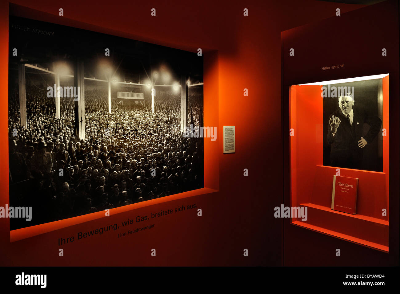 Photos of the Hitler era, exhibition 'Typical Munich', Stadtmuseum, city museum, Munich, Bavaria, Germany, - Stock Image