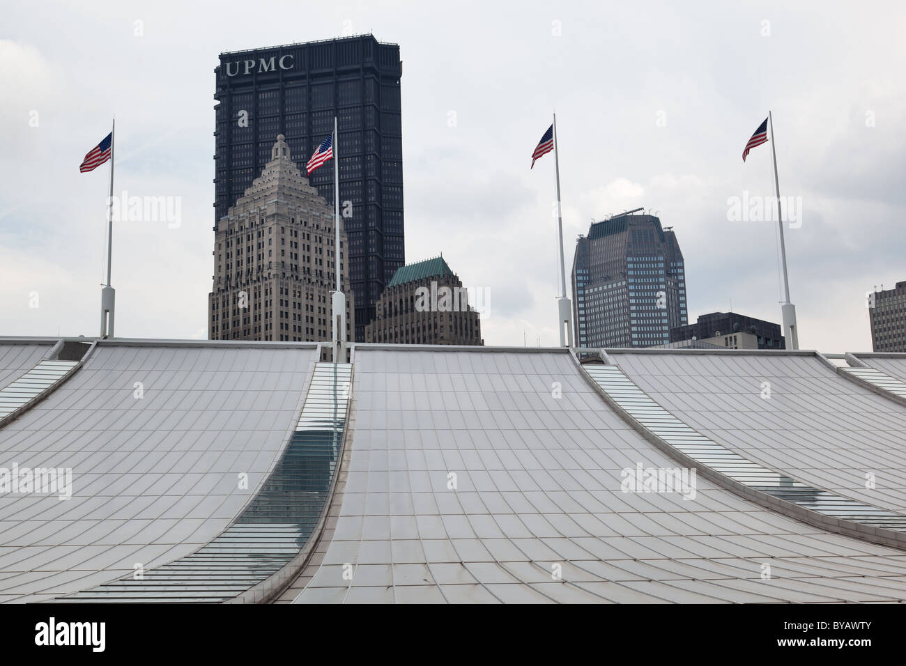 Roof of the The David L  Lawrence Convention Center