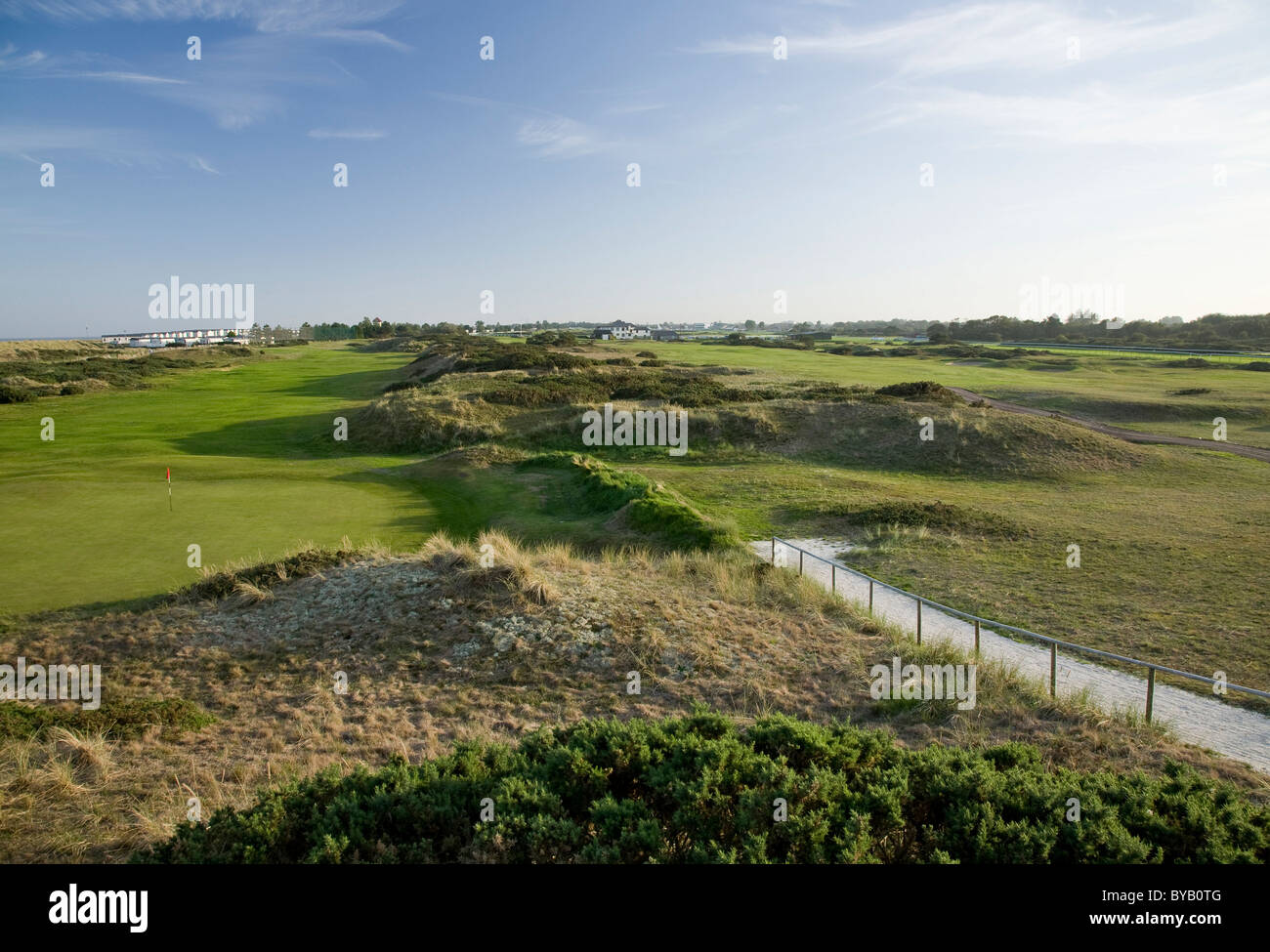 Caister golf course (south view) - Stock Image
