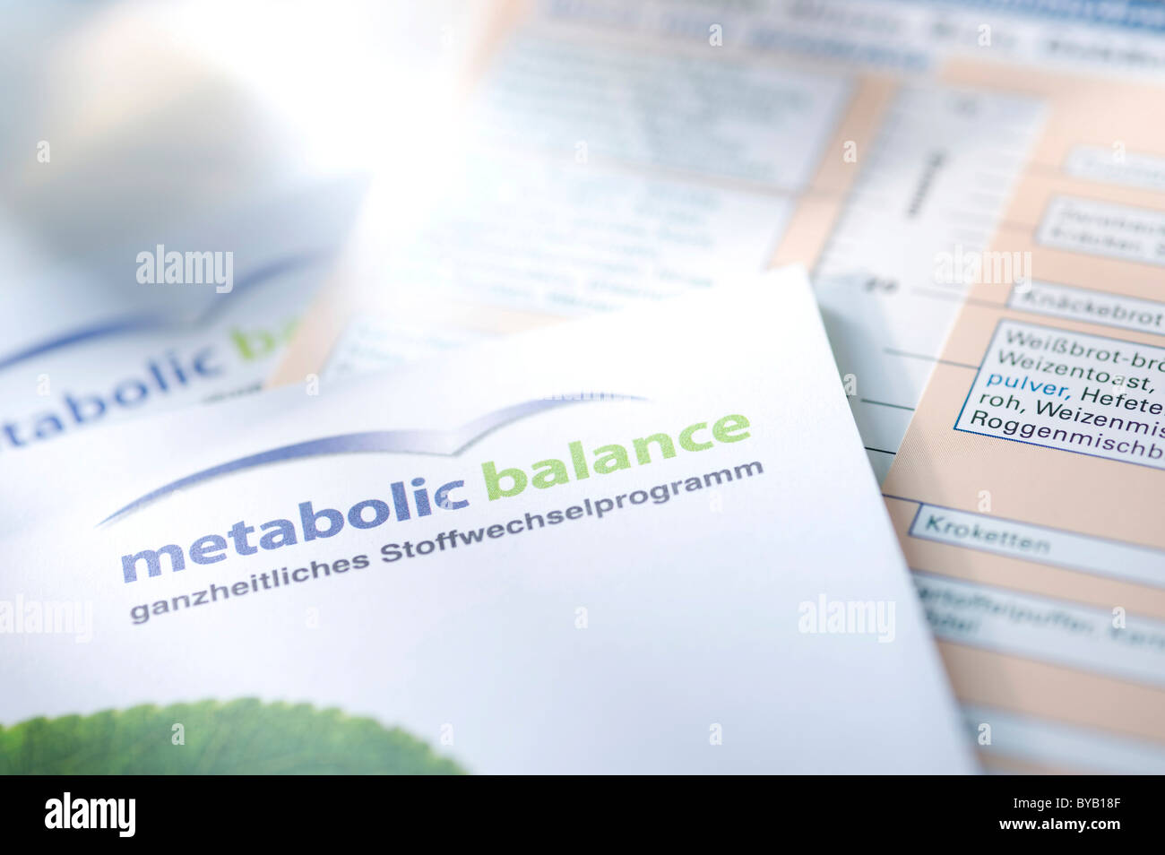 Flyer about metabolism - Stock Image
