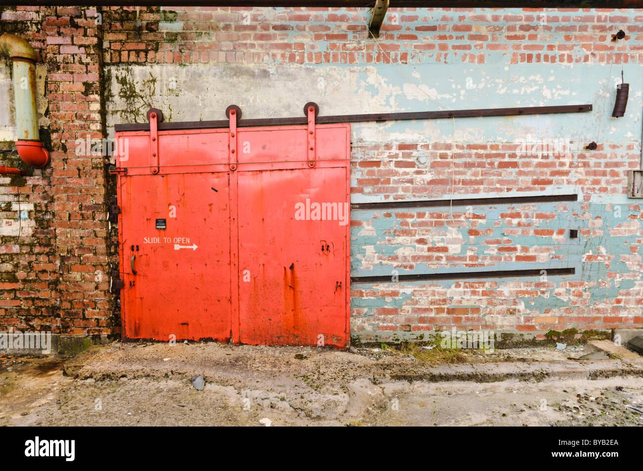 Red Sliding Door Stock Photos Red Sliding Door Stock Images Alamy