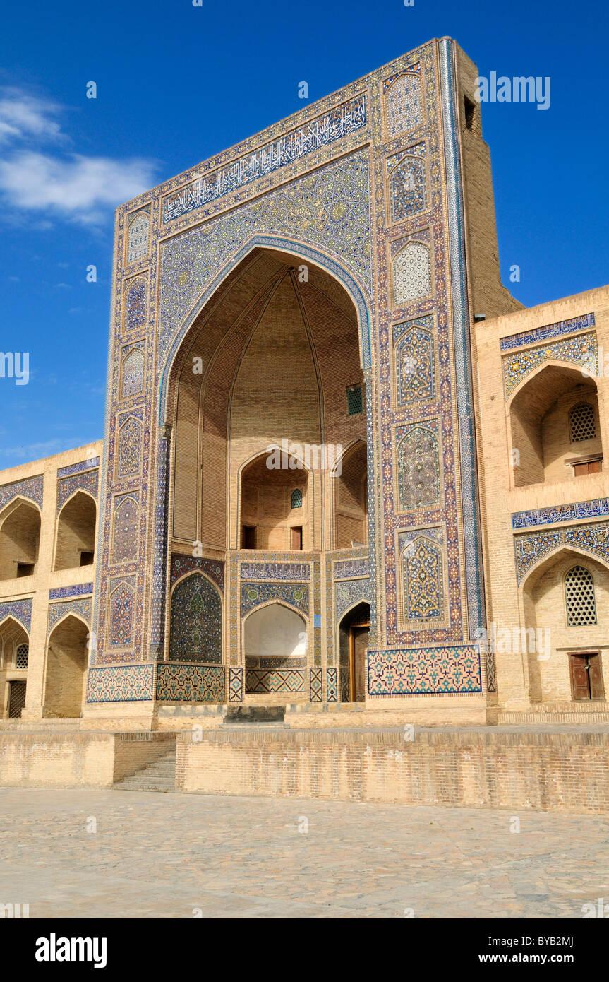 Mir-i, Miri Arab madrassah, Bukhara, Buchara, Silk Road, Unesco World Heritage Site, Uzbekistan, Central Asia - Stock Image