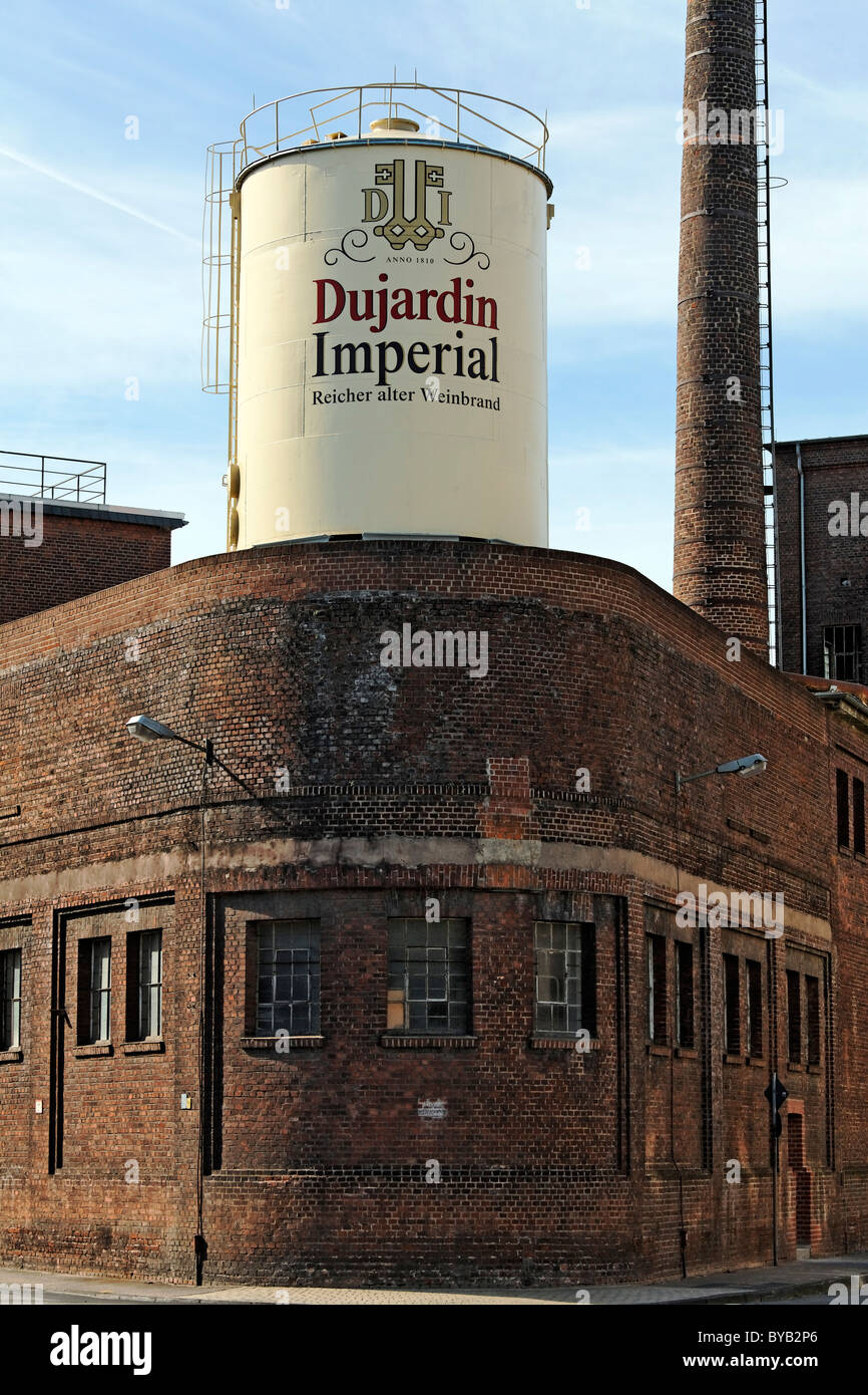 Former Dujardin distillery, Uerdingen district, Krefeld, North Rhine-Westphalia, Germany, Europe - Stock Image