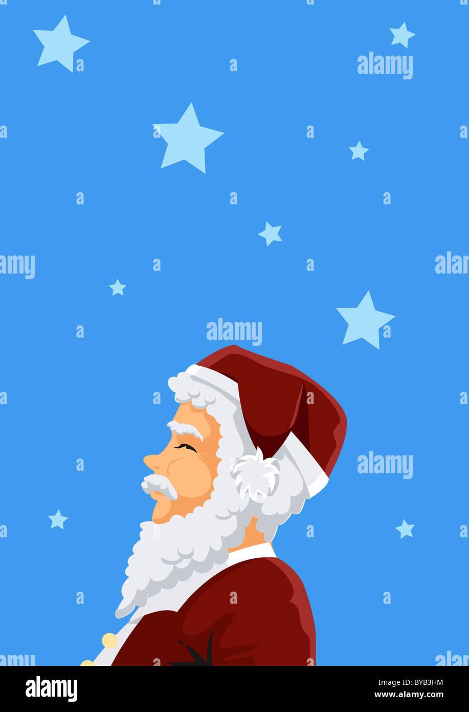 A portrait of Santa Claus - Stock Image