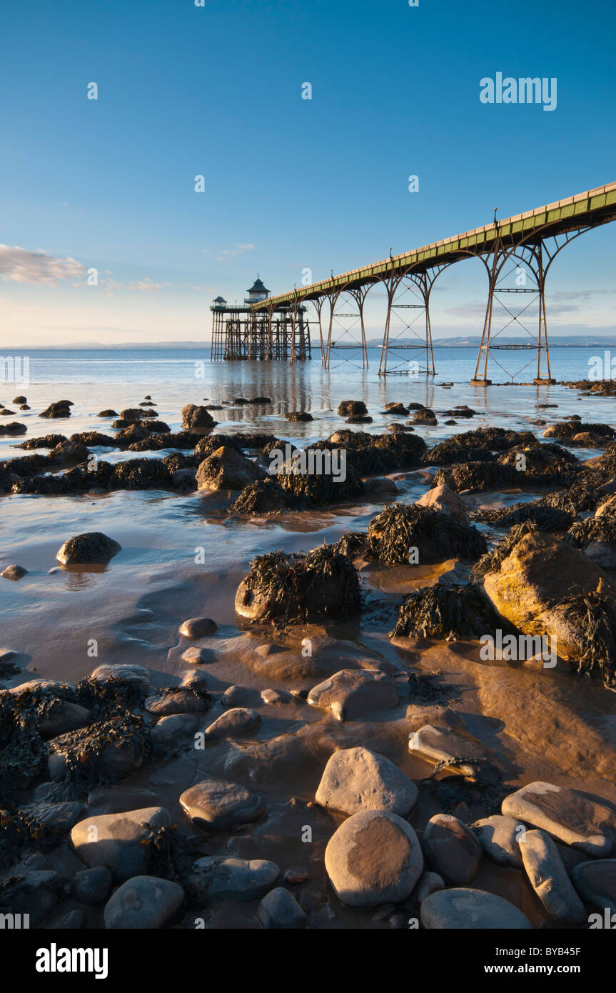 Grade 1 listed Victorian Pier, Clevedon, North Somerset, UK Stock Photo