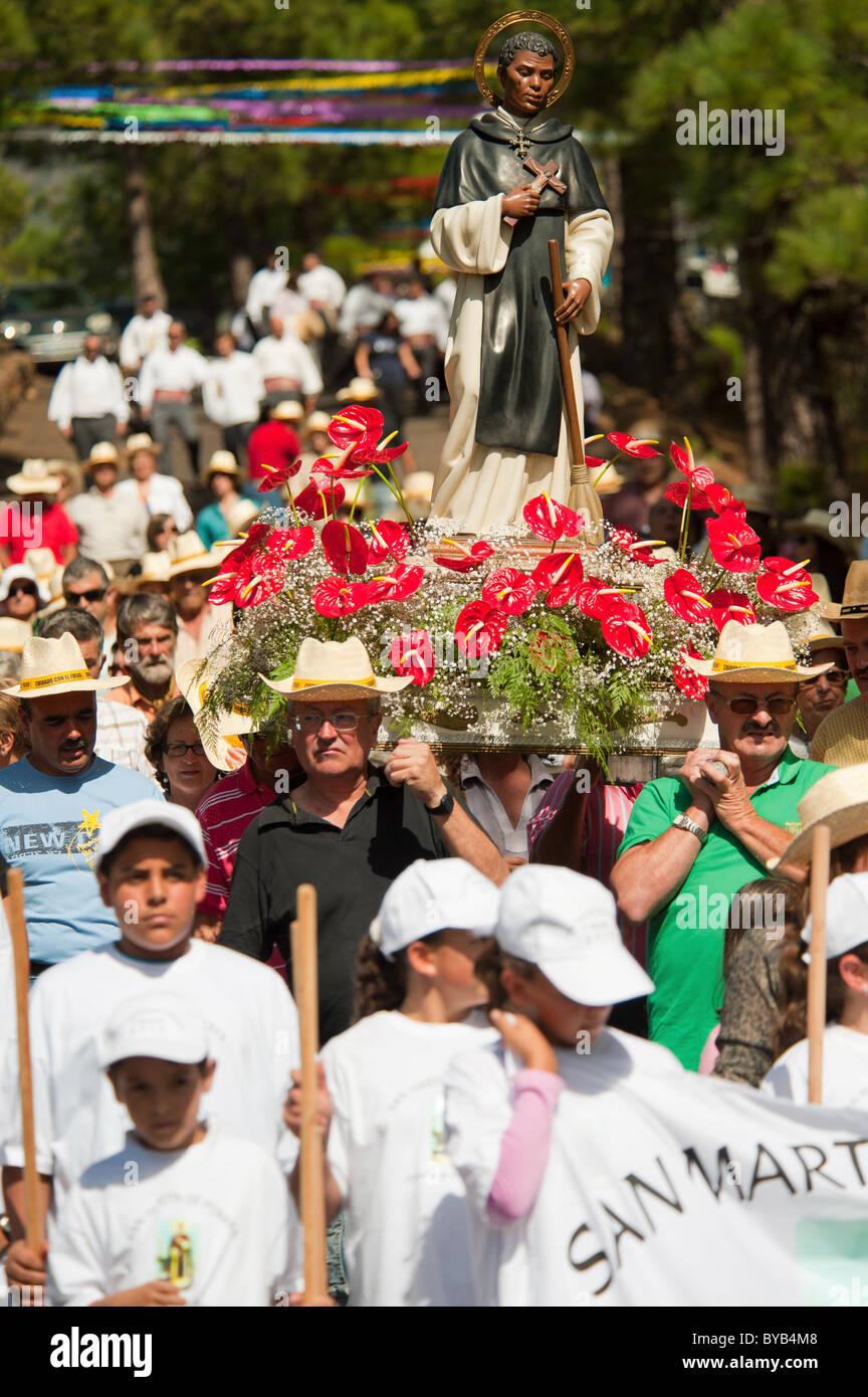 Festival of San Martin de Porres in El Barrial de abajo, El Paso, La Palma, Canary islands, Spain Stock Photo