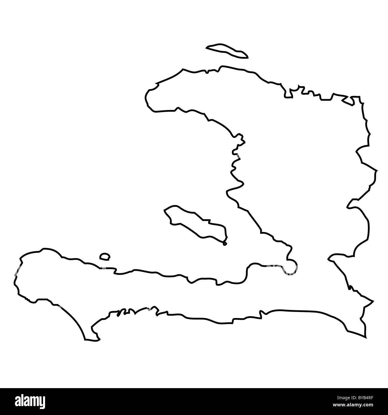Haiti Map Outline Outline, map of Haiti Stock Photo: 34051347   Alamy