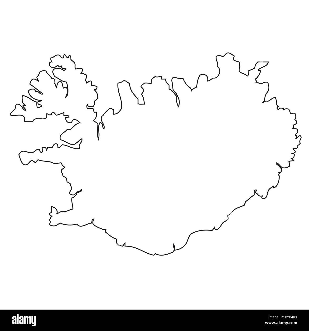 Image of: Outline Map Of Iceland Stock Photo Alamy