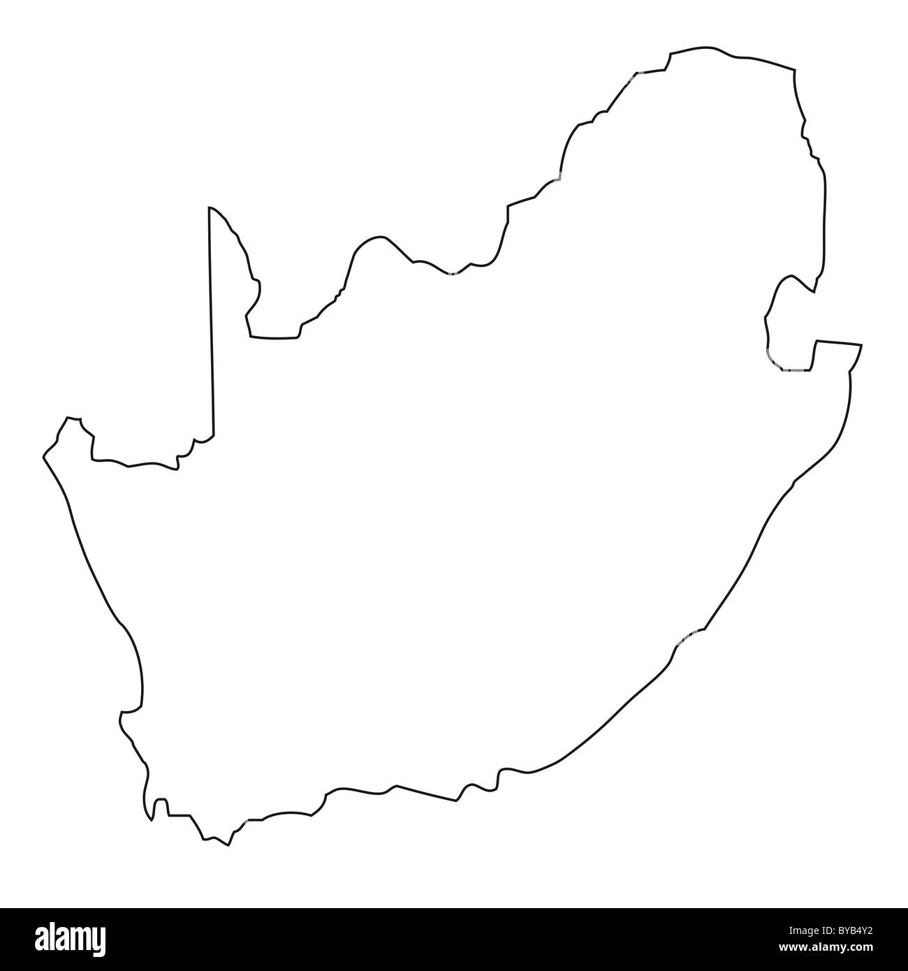 Outline Of Africa Map.South Africa Map Outline Stock Photos South Africa Map Outline