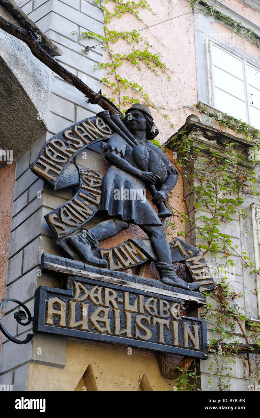 Der liebe Augustin Restaurant, Griechenbeisl Restaurant, 1st district, Vienna, Austria, Europe - Stock Image