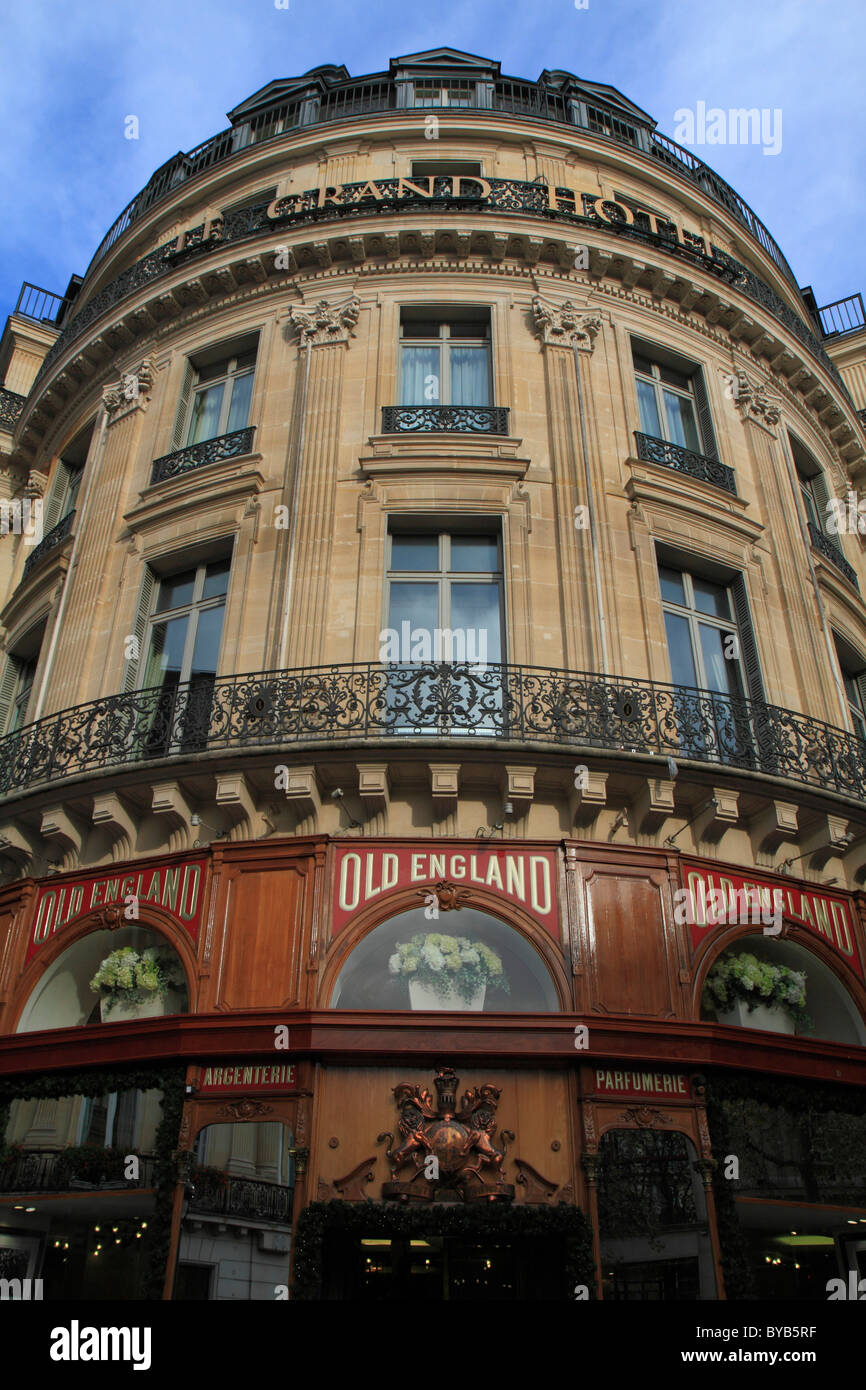 Le Grand Hotel, 2 rue Scribe, 9th Arrondissement, Paris, France, Europe - Stock Image