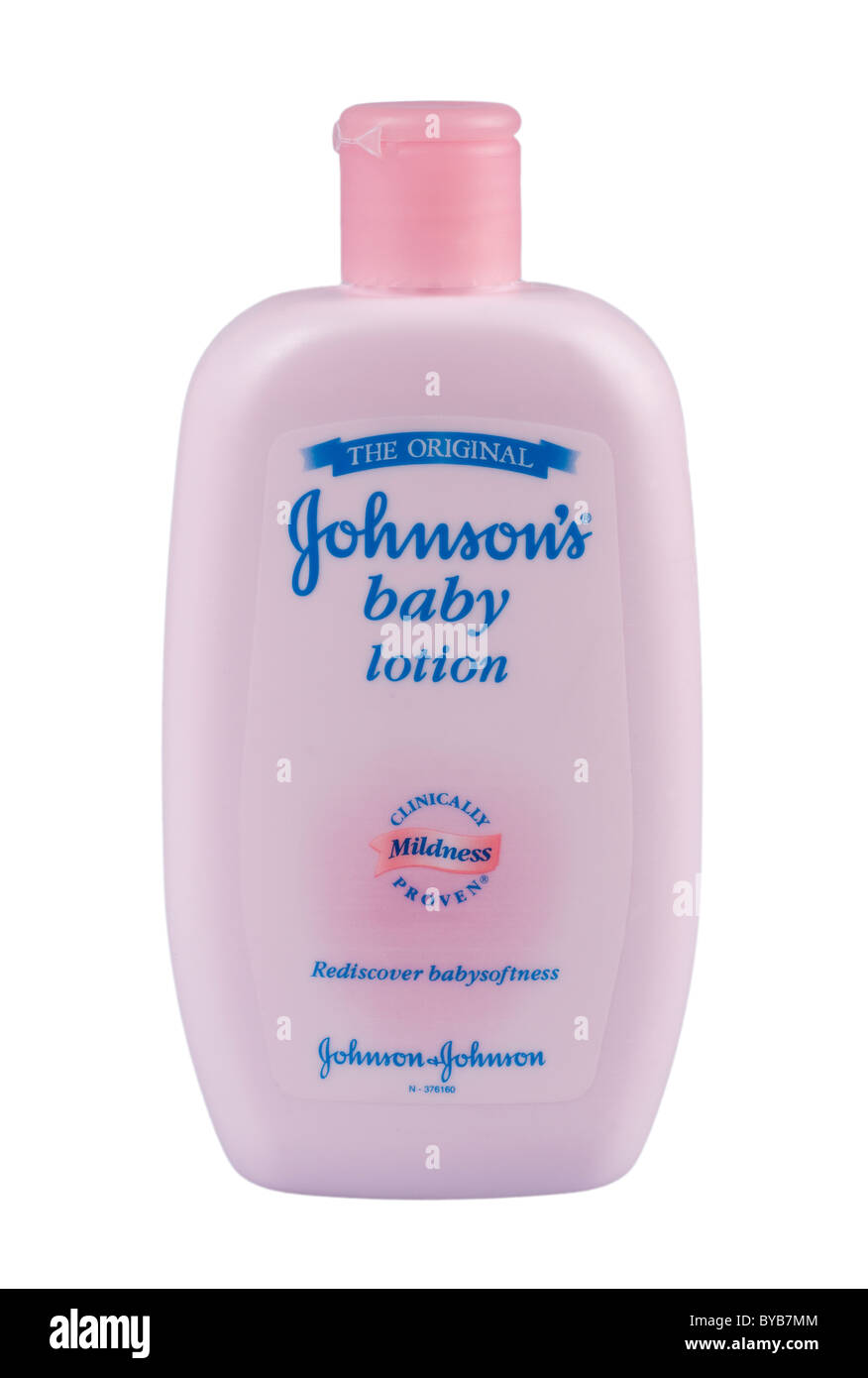 Johnson S Baby Lotion On A White Background Stock Photo Alamy